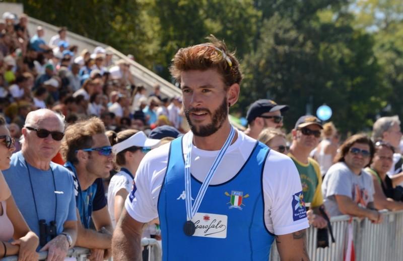 Medaglia d'argento per Bruno Rosetti nel quattro senza ai Mondiali di Plovdiv
